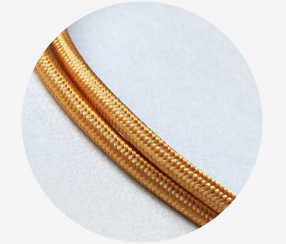 "Textile cable ""Gold"""