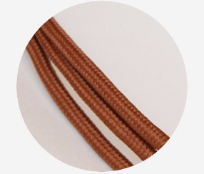 "Textile cable ""Brown"""