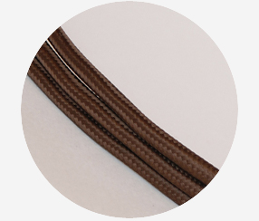 "Textile cable ""Chocolate"""