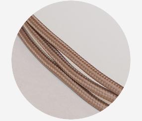 "Textile cable""Capuccino"""