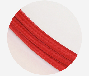 "Textile cable ""Red"""