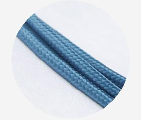 "Textile cable ""Metallic blue"""
