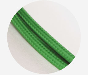 "Textile cable ""Green"""