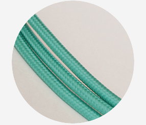 "Textile cable ""Emerald"""