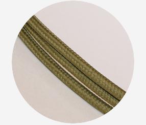 "Textile cable ""Khaki green"""