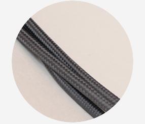 """Textile cable """"Dark-grey"""""""