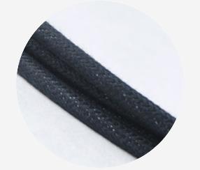 """Textile cable """"Black cotton"""""""