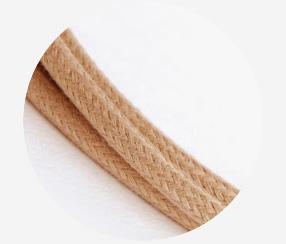 """Textile cable """"Beige cotton"""""""
