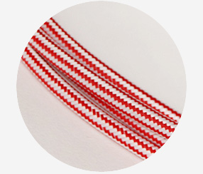 "Textile cable ""Red stripes"""