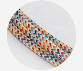 "Textile cable ""Rainbow"""