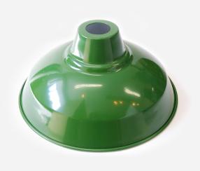Lampshade green, metal