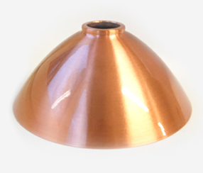 Lampshade, copper, lacquer