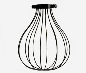 """Diamond bulb cage, """" Whisk""""  black"""