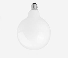 LED Globe lamppu, valkoinen 95 mm