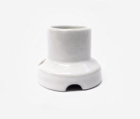 Porcelain bulb holder for wall