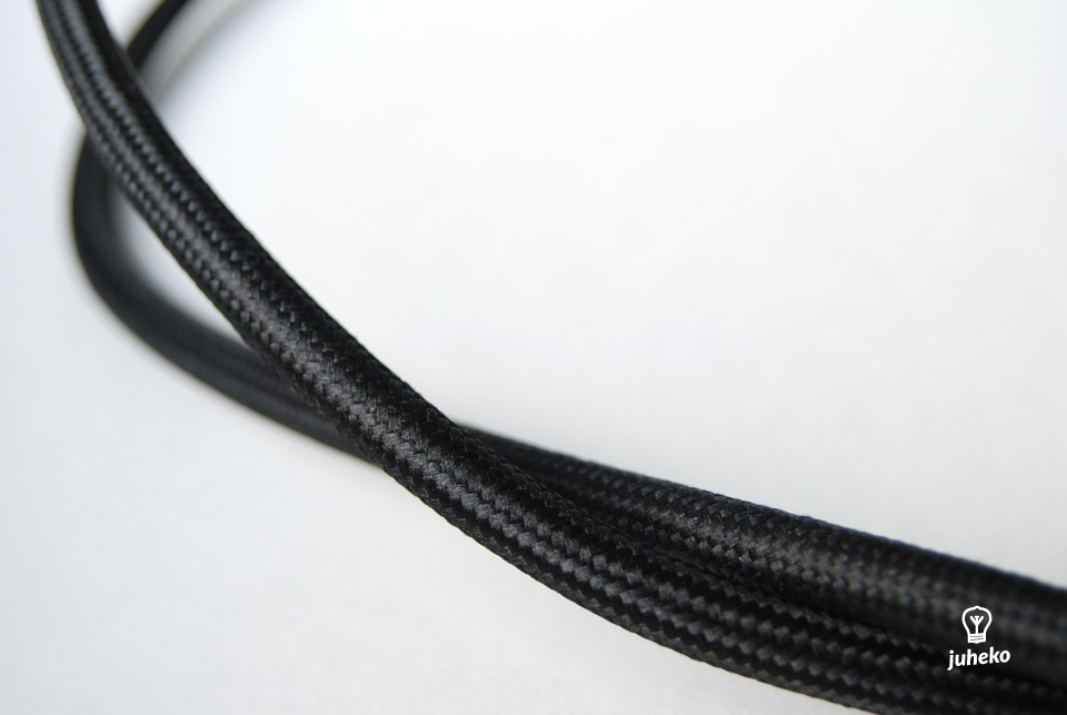 Power cable 2x1,5mm2, black