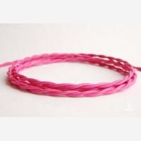 "Twisted cord ""fuchsia pink"""