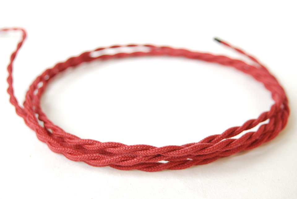 """Twisted cable """"Cherry"""""""