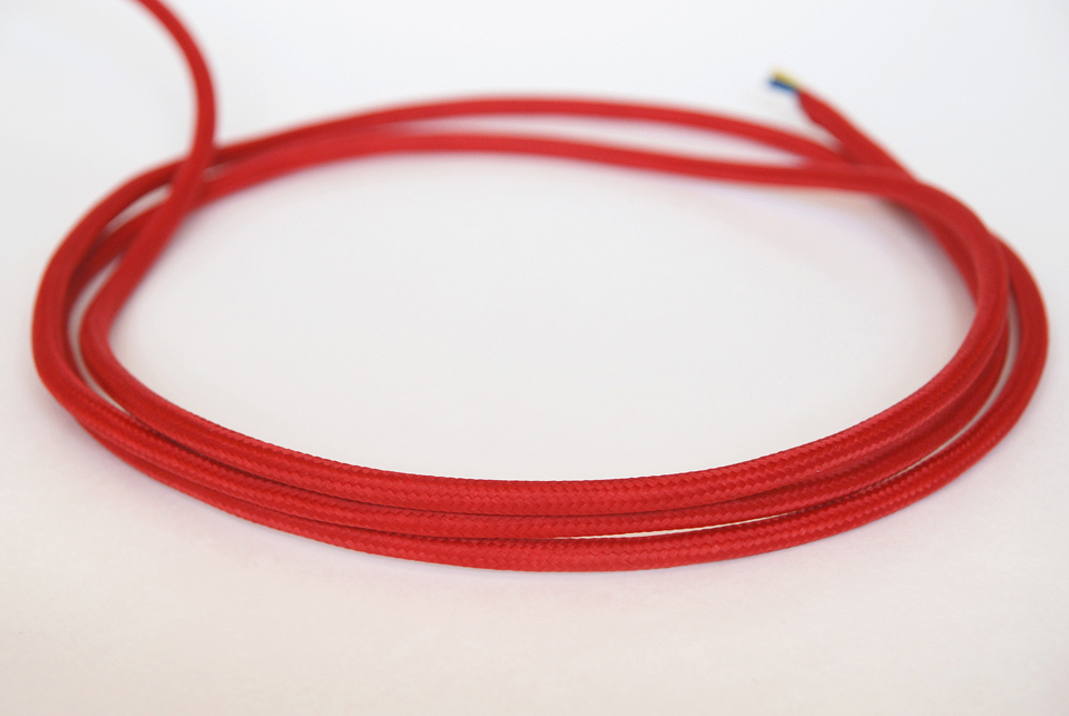 "Textile cable ""Red"" 3x1,5mm2"