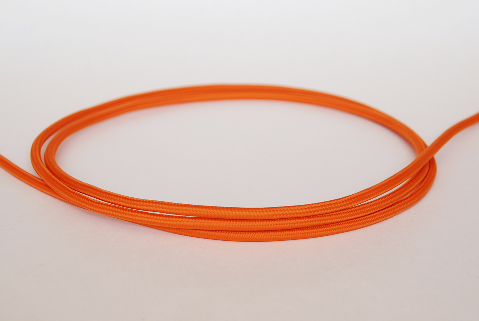 "Textile cable ""Orange"""