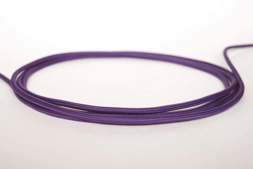 """Textile cable """"Purple"""""""