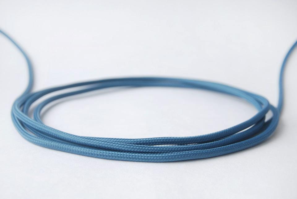 Textile Cable - Metallic Blue