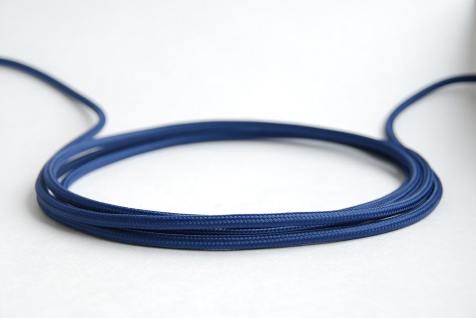 "Textile cable ""Dark blue"" 3x1,5mm2"