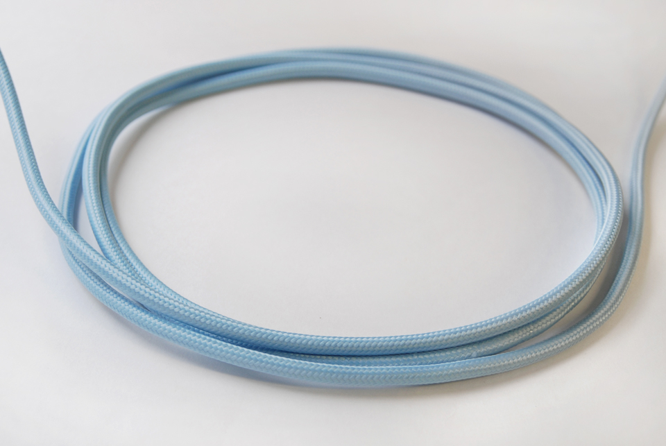 Textile Cable - Ice Blue