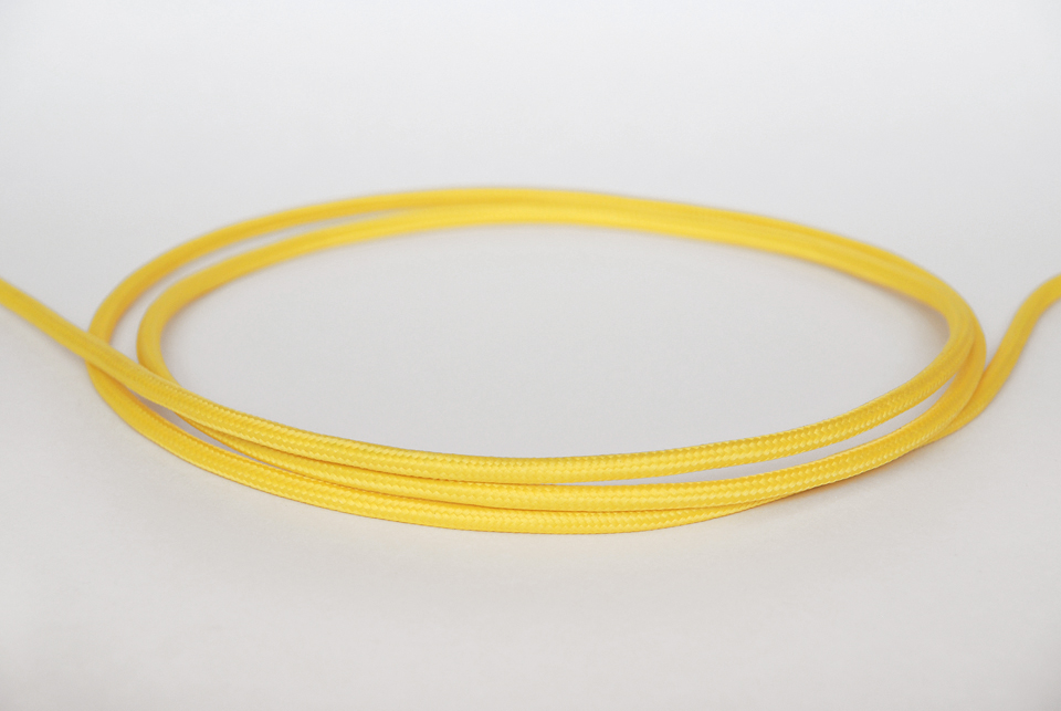 "Textile cable ""Lemon yellow"" 3x1,5mm2"