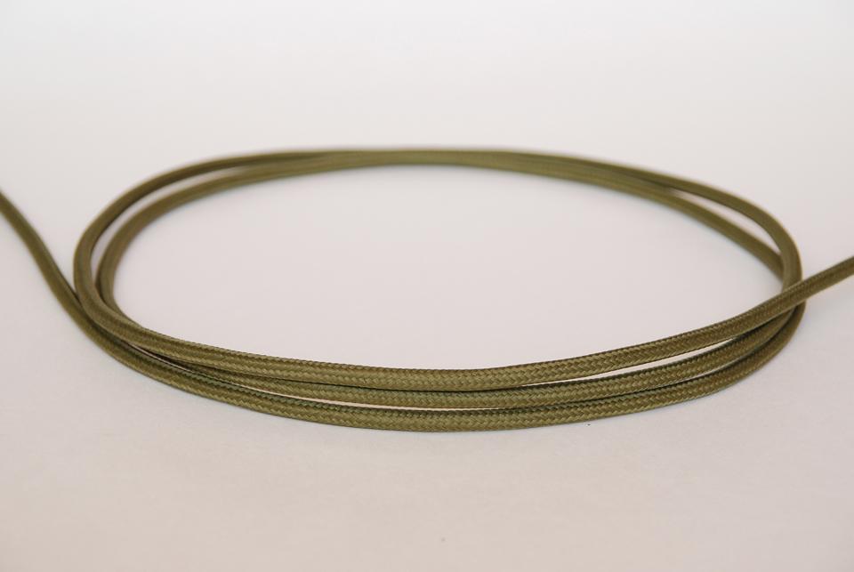 Textile Cable - Khaki Green