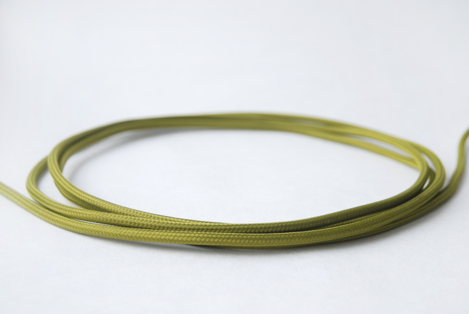 "Textile cable ""Olive green"""