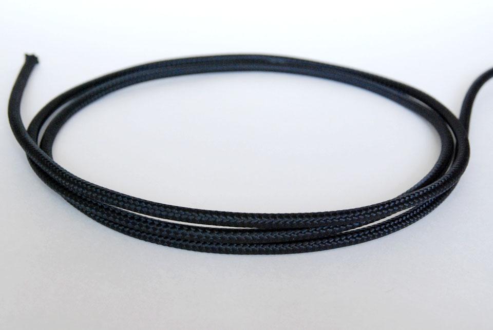 Textile Cable - Black Brut