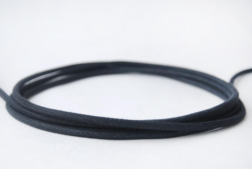 Textile Cable - Black Cotton