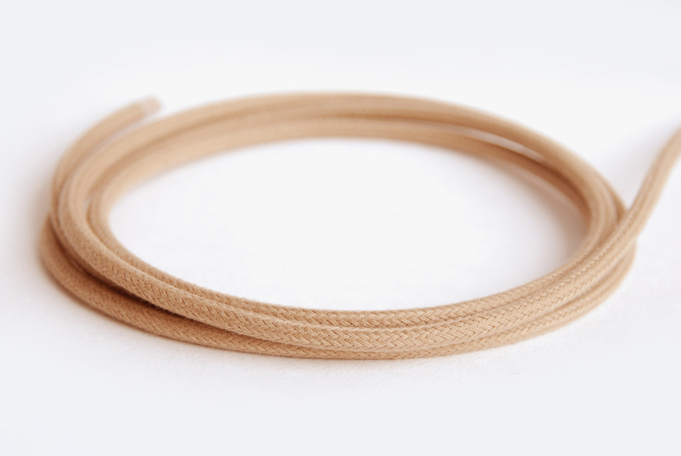 Textile Cable - Beige Cotton