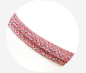 "Textile cable ""Rose hip"""