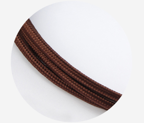 "Textile cable ""Chestnut"""