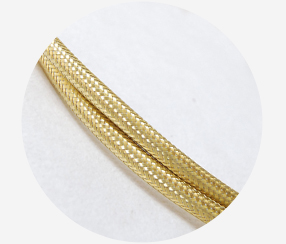 Textile Cable - Gold, metal yarn