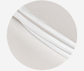 "Textile cable ""White"" 3x1,5mm2"