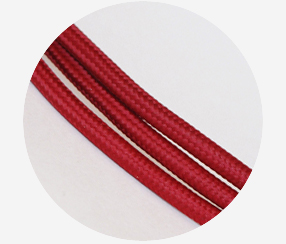 "Textile Cable ""Dark red"" 3x1,5mm2"