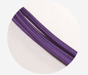 "Textile cable ""Purple"""