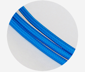 Textile cable-Blue 3x1,5mm2