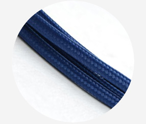 "Textile cable ""Dark blue"""