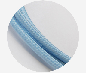 "Textile cable ""Ice-blue"""