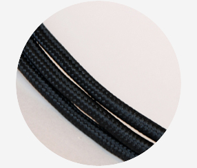 Textile Cable - Black 3x1,5mm2
