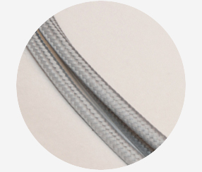 "Textile cable ""Light grey"" 3x1,5mm2"