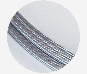 "Textile cable ""Silver"""