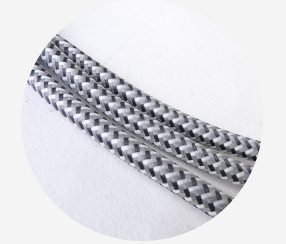 "Textile cable ""Steel"" 3x1,5mm2"