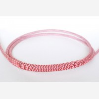 "Textile cable ""Red-white zigzag"" 3x1,5mm2"