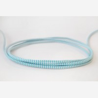 Textile Cable - Blue Zigzag