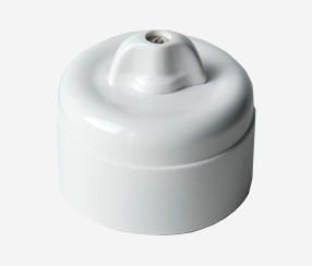 One way wall switch, duroplast, white